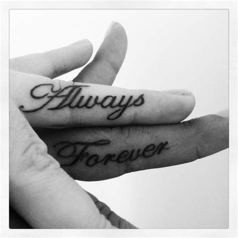 forever and always tattoos for couples wedding ring ideas tattoos with names tattoona