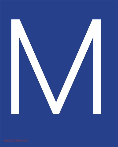 The Letter M In Blue   www.imgkid.com   The Image Kid Has It!