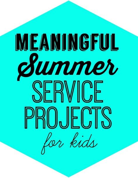 Service Ideas Service Projects And summer service project ideas for design dazzle