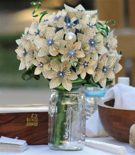 How To Make Paper Flowers For A Wedding - papercraft flowers wedding my wedding bouquet made