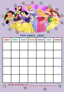 printable reward charts disney related pictures princess sticker chart images frompo