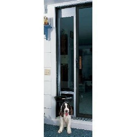 small sliding patio doors petsafe deluxe sliding patio door door small satin ebay