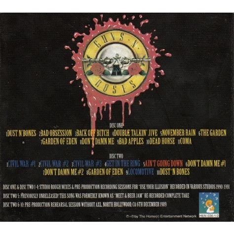 Cd Guns N Roses Use Your Illusion use your illusion outtakes by guns n roses cd x 2 with