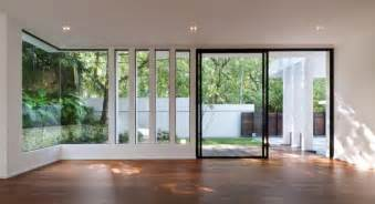 Big Sliding Windows Decorating Bright Large With Polsihed Wooden Flooring And Glass Sliding Door Decorated By Recessed