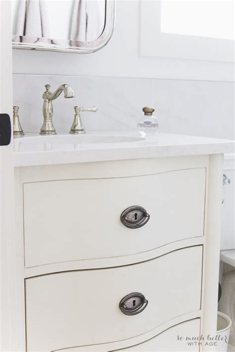 Bathroom Vanity Repair Faux Carrara Marble Master Ensuite So Much Better With Age