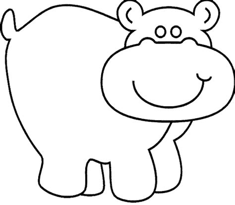 hippo coloring page hippo coloring pages to