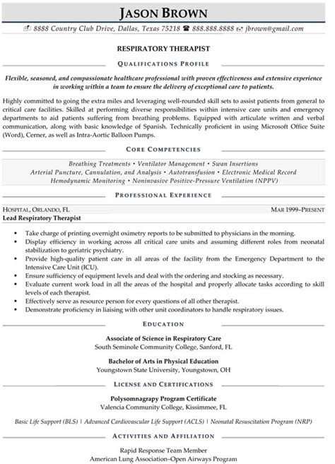 Respiratory Care Practitioner Cover Letter by Resume Exles Resume Professional Writers