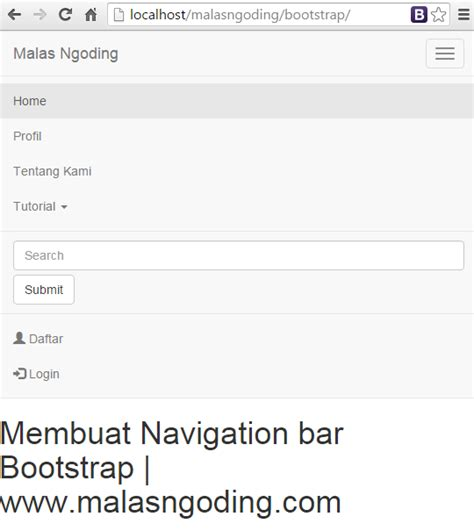 cara membuat menu dropdown bootstrap bootstrap part 12 membuat navigation bar bootstrap