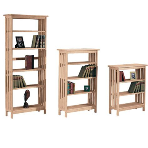 whitewood mission bookcases