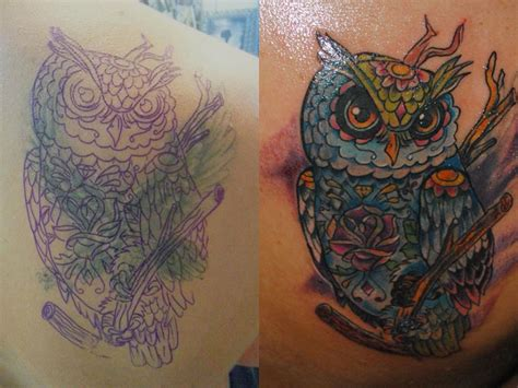 tattoo nightmares owl cover up owl cover up tattoo by adda by transilvaniatattoo66 on