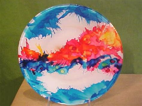 Home Painting Ideas Interior Color Colorful Airbrushed Glass Plates Hgtv