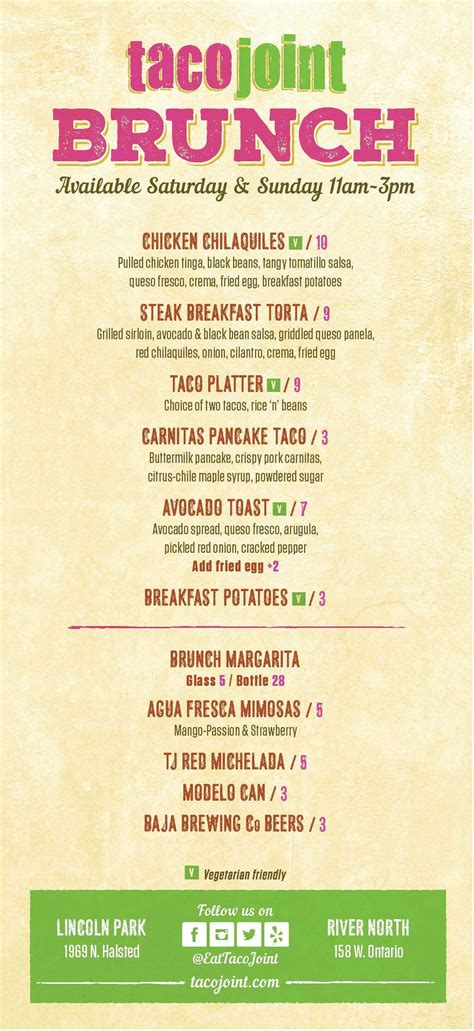 taco joint lincoln park menu easter brunch at taco joint chicago food magazine