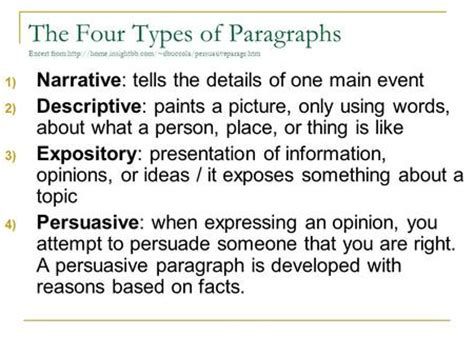 paragraph types the traditional five paragraph essay the three main