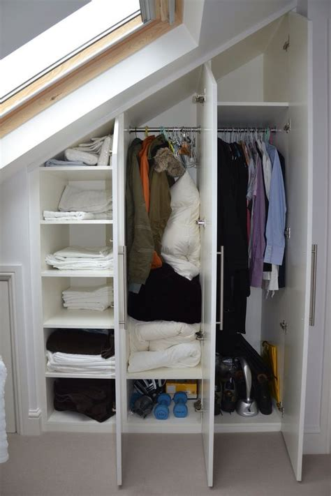 Fitted Closets by 26 Creative And Smart Attic Storage Ideas To Try Shelterness