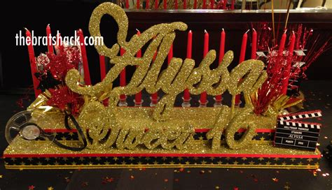 theme names for sweet 16 hollywood sweet sixteen candelabra with script name
