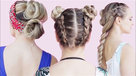 easy hairstyles at the beach easy beach hairstyles tutorial kayleymelissa youtube