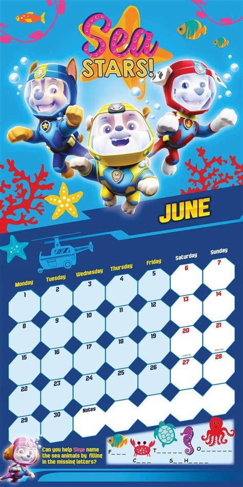 paw patrol official calendar   calendar club