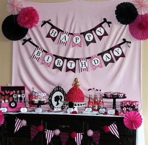 barbie themed birthday party barbie inspired birthday party ideas photo 11 of 19