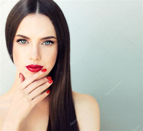 models with stright hair model girl with long straight hair stock photo 169 sofia