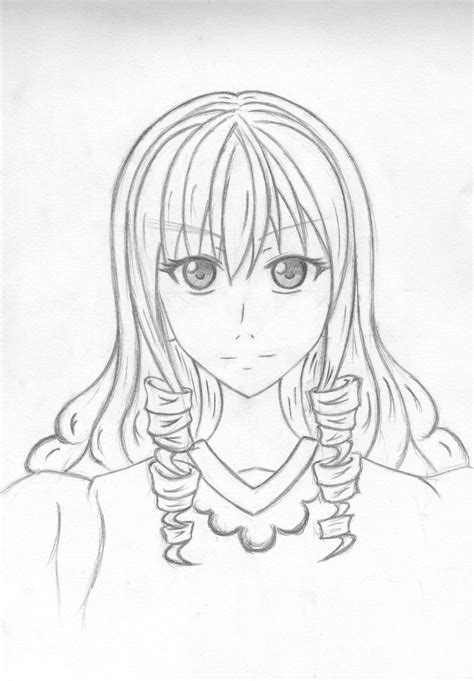 anime hairstyles curly anime girl curly hair style by naki ren on deviantart
