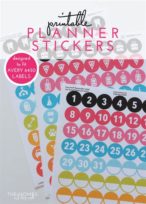 printable number stickers a tour of my 2016 planner with printable planner stickers