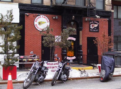 Black Windsor Bench File Hells Angels Clubhouse East Village Jpg Wikipedia