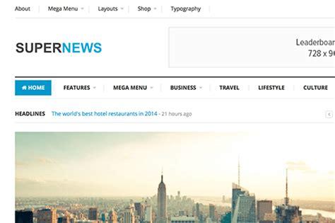 supernews theme junkie premium html css templates theme junkie