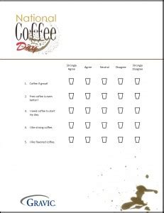 Enjoy National Coffee Day 183 Remark Software Coffee Survey Template