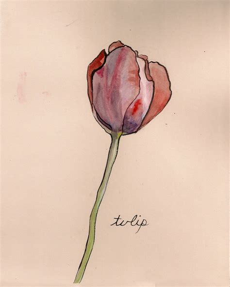watercolor tulip tattoos 70 best images about 1 tulip on