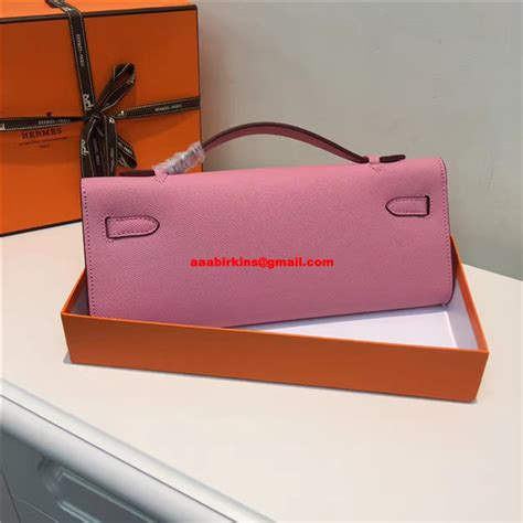 Hermes Desso 2393 1 hermes cut 31cm epsom leather clutch pink 189 00 replica