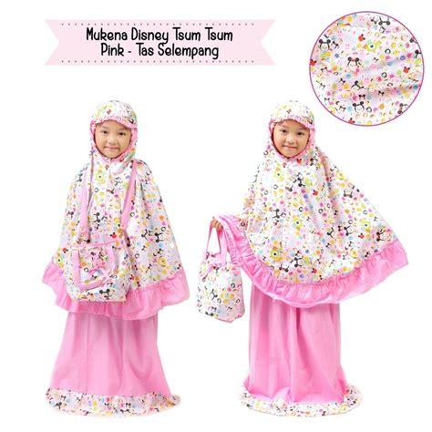 Mukena Disney Tsum Tsum Xs by Mukena Anak Disney Tsum Pink Tas Selempang Fina Mukena