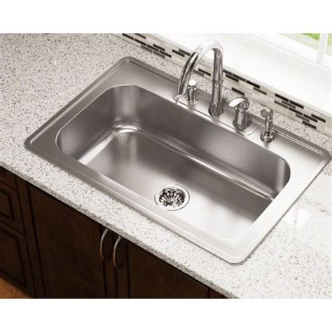 32 X 22 Kitchen Sink Polaris Sinks 32 88 Quot X 22 Quot Single Bowl Drop In Stainless