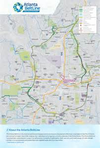 Atlanta Beltline Map by Poster Atlanta Beltline Map