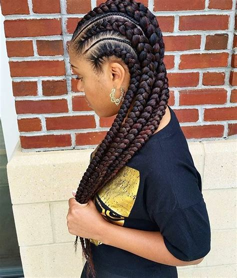 feeder braids hairstyles gorgeous feed in braids by mahoganii couture thestylist