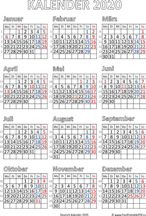 kalender deutschland  zum ausdrucken  drucken kostenlos