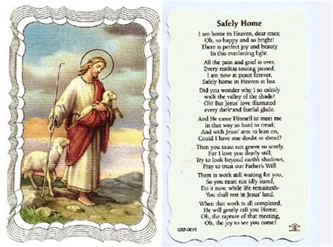safely home linen prayer card