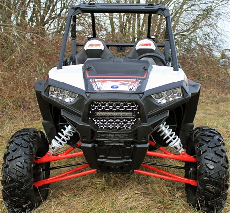 polaris rzr light bar front grill w 10 quot light bar modquad