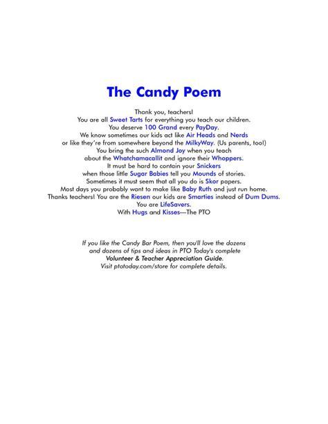 appreciation poem pto appreciation
