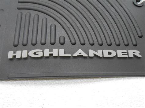 Toyota Highlander Floor Mats 2010 by Oem 2008 2010 Toyota Highlander Hybrid Front Rubber Floor