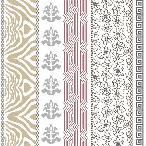border pattern motif art deco vintage silk wallpaper with ancient greece and