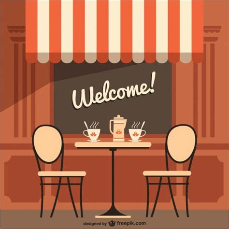 Welcome To Cafe terrace vectors photos and psd files free