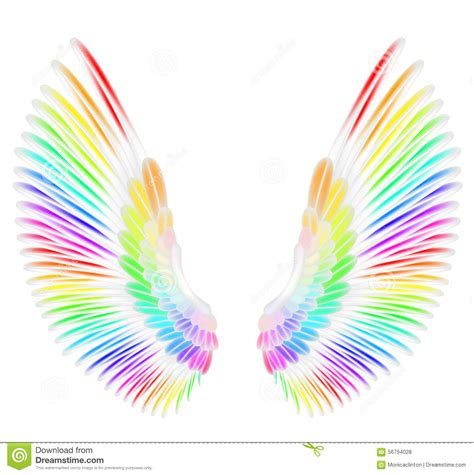 colored wings colored wings clipart