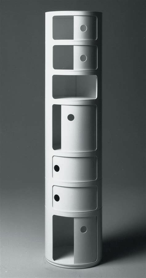 Componibili Storage   2 elements Ivory White by Kartell