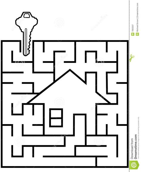 maze house home finder maze puzzle with house key royalty free stock photography image 7903337
