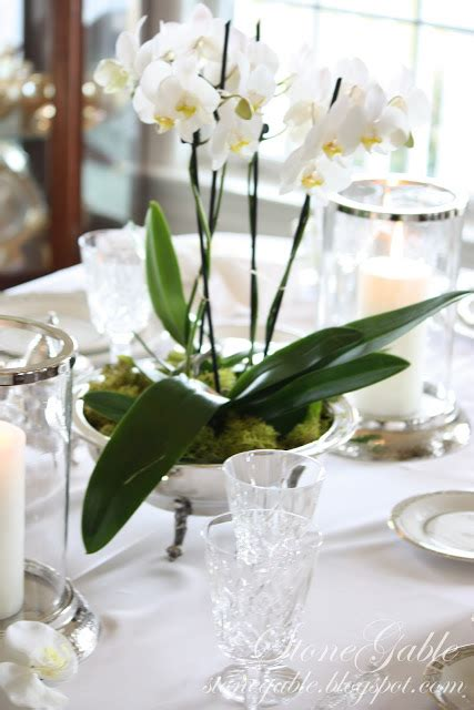 orchid centerpieces for dining table stonegable china orchids and quot open house quot