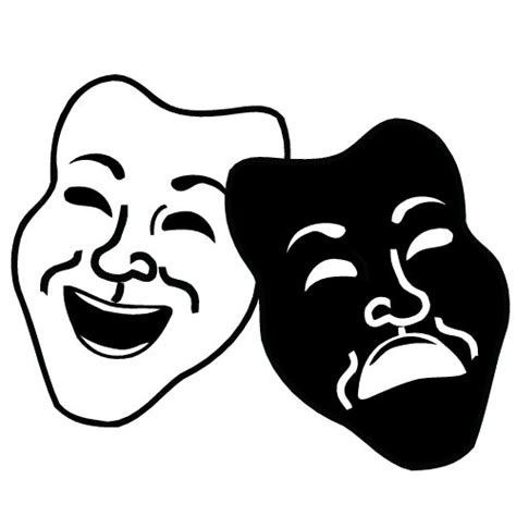 Drama Mask Template by Drama Mask Templates Clipart Best