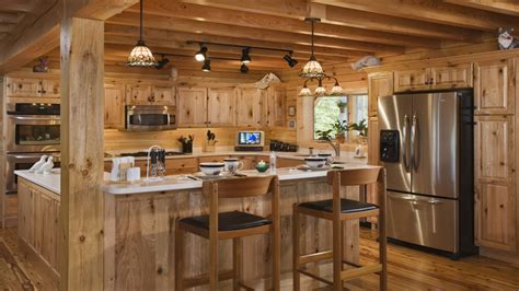 log home kitchen interior design log cabin kitchens best