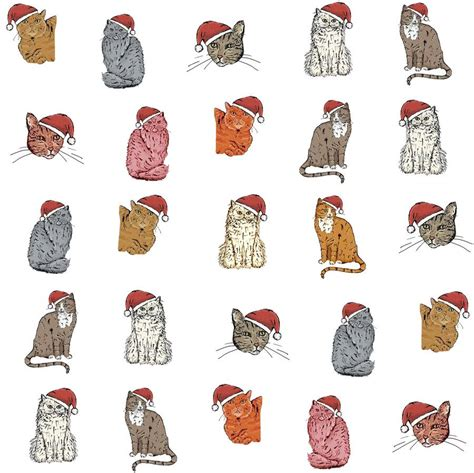 printable cat wrapping paper cat christmas wrapping paper gift set by goodnight