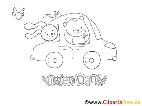 Auto Bilder Zum Ausmalen by Auto Tiere Ausmalbild Danke Sagen