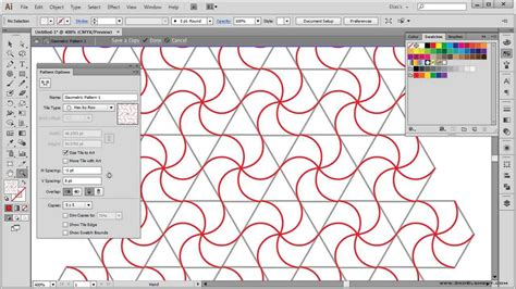 pattern illustrator tutorial how to create a geometric pattern illustrator tutorial